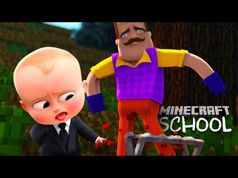 Minecraft School - HELLO NEIGHBOUR IS ON THE RUN! (Boss Baby's evil plan)