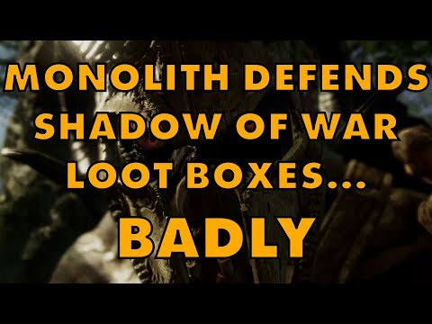 Shadow Of War Dev Tries (Fails) To Justify Loot Boxes