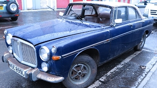 Rover P5B Coupe.1st start 30 years.'Barn Find'.Warning-Slow lift!