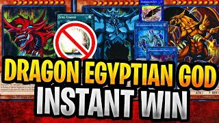 Dragon Egyptian God Deck Insant WIN FTK Yugioh Deck Gameplay With Decklist (NO SOUL Charge)