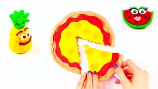 Play Doh Creative Video For Kids How To Make Pizza Ice Cream Toys Learn Colors Shapes Kinetic Sand
