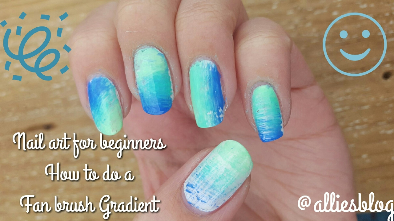 Nail art for beginners how to do a fan brush gradient youtube nail art for beginners how to do a fan brush gradient prinsesfo Image collections