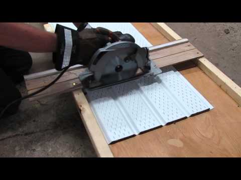 How to Cut Soffit or Siding With a Circular Saw!