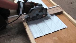 How to Cut Aluminum Soffit With a Circular Saw!