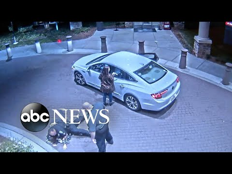 Video shows security guards slamming down a teenager outside a hospital