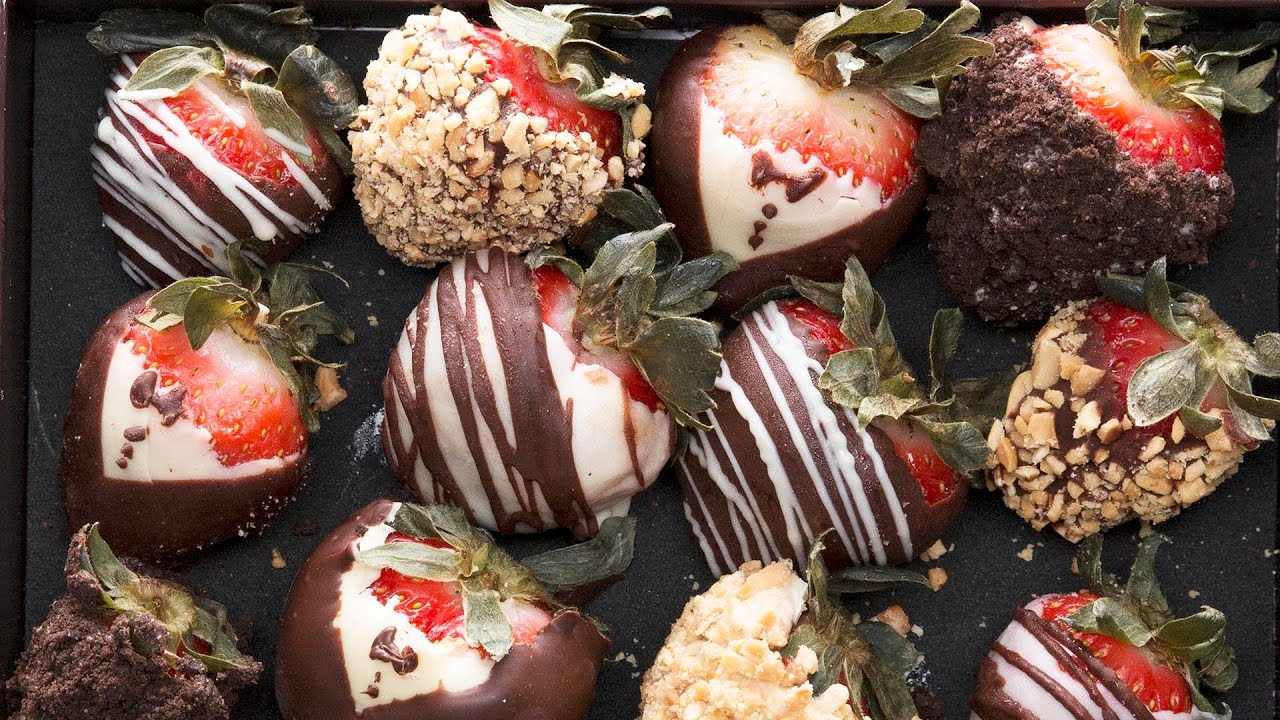Homemade Chocolate Covered Strawberries 4 Ways Youtube