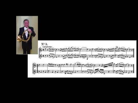 RIchard Burdick performs Mozart Horn Duets No. 1 & 5