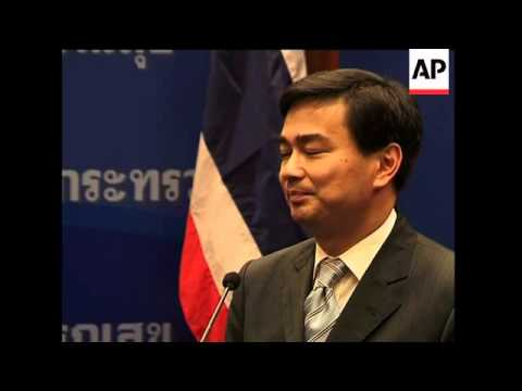 Abhisit comments on security laws as protests continue