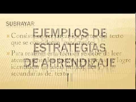 Estrategias de Aprendizaje | Ejemplos de Estrategias de Aprendizaje