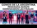 Genios de la Argentina en Showmatch - Programa completo 28/06/19 - Comenzaron las finales