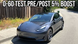 Tesla Model 3 0-60 Test (3rd Try) – After 2019.36.2.1 Update - 5% Power Increase