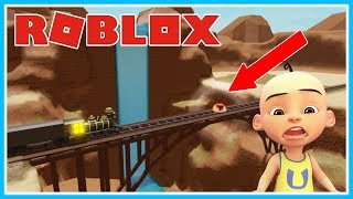 UPIN HANCURINE TRAIN!! TIME TRAVEL ADVENTURES (UPIN IMPRISONED)-ROBLOX UPIN IPIN