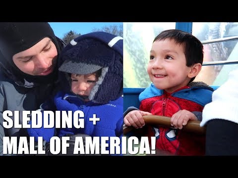 SLEDDING + MINNESOTA MALL OF AMERICA! | AprilJustinTV Family Travel Vlog