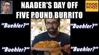 "5 Pound ""Buehler"" Burrito Challenge at La Chiquita w/ Foodbeast | FreakEating in OC"