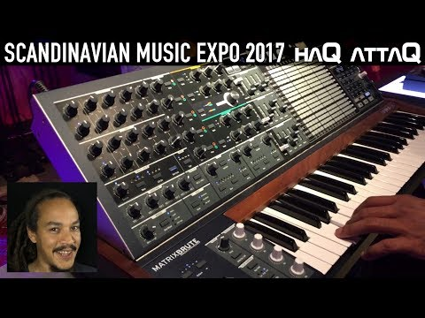 So many Synthesizers I want │ Scandinavian Music Expo 2017 Stockholm Sweden │ haQ attaQ
