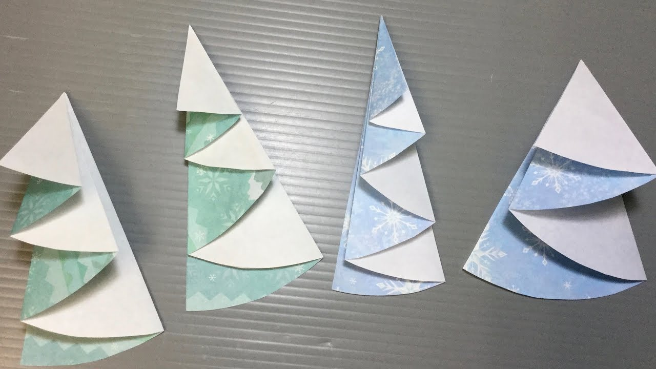 origami christmas tree from circular paper 01 youtube