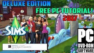 "How to install ""The Sims 4 Delux Edition"" for FREE ON PC! (includes all DLC)"