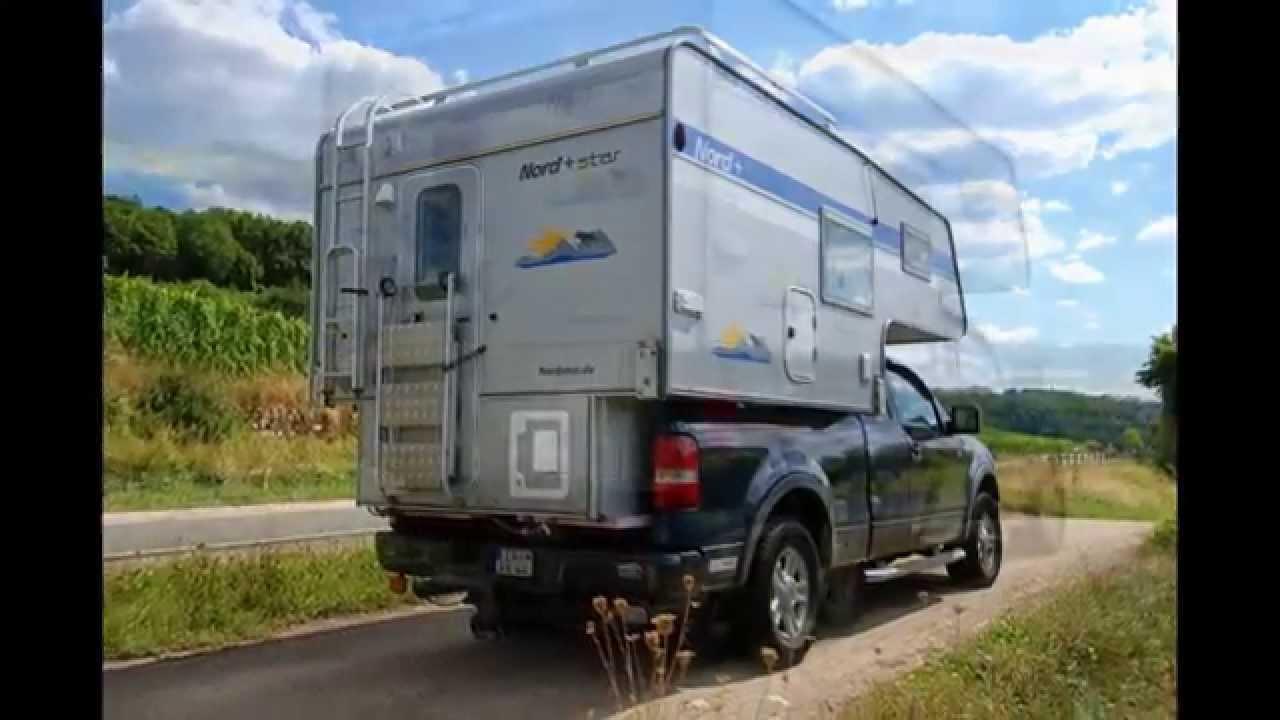 wohnkabine nordstar camp 8 5 c 2013 auf ford f 150 extended cab youtube. Black Bedroom Furniture Sets. Home Design Ideas