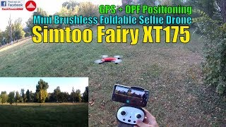 Simtoo Fairy XT175 - Mini Selfie Drone Review & Fligh Test