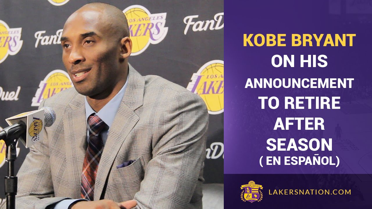 Kobe Bryant On Retirement Announcement (Spanish) - YouTube