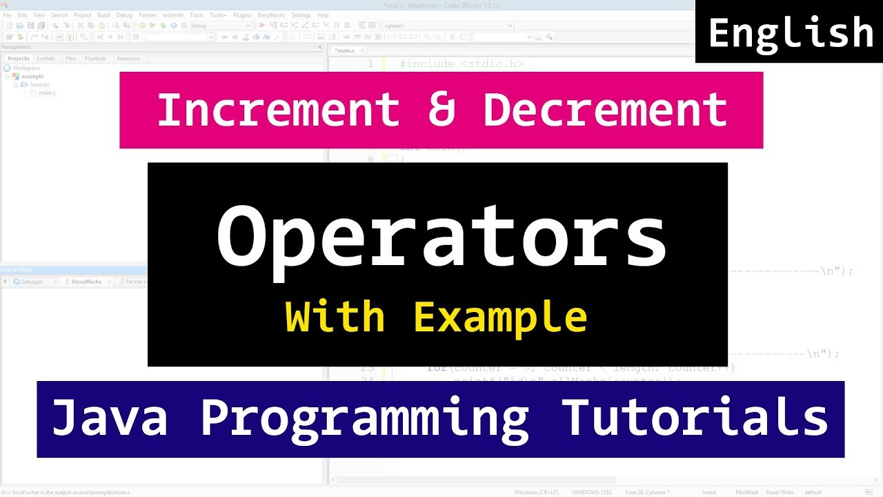 Java codes tutorial image collections any tutorial examples increment and decrement operators java programming tutorial increment and decrement operators java programming tutorial youtube baditri baditri Images