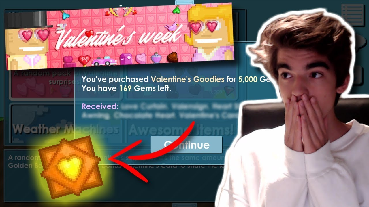 Valentine S Packs New Items Growtopia Youtube