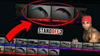 Case opening for Karambit knifes | Standoff 2