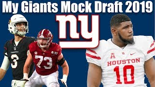 My NY Giants 2019 Mock Draft