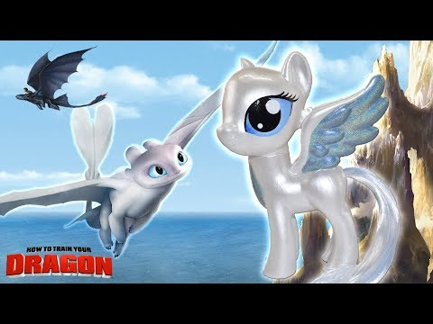 LIGHT FURY DRAGON PONY Custom How to Train Your My Little Pony Tutorial