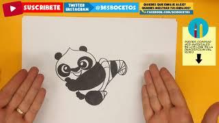 COMO DIBUJAR KUNG FU PANDA 3 KAWAII PASO A PASO - Dibujos faciles - How to draw a KUNG FU PANDA 3