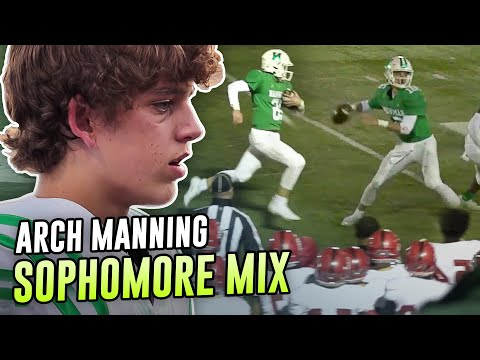 Arch Manning OFFICIAL Sophomore Year Highlights! The Next Manning QB Racks Up OVER 30 TOUCHDOWNS!?