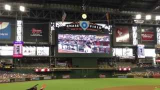 Arizona Diamondbacks vs. Los Angeles Dodgers (Jumbotron Intro Video & Lineup Introduction; 7-9-13)