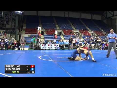 145 Champ. Round 4 - Jeren Glosser (Iowa) vs. Patricio Lugo (Florida)