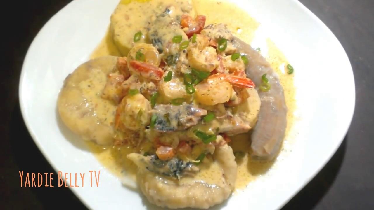 jamaican mackerel and shrimp rundown  youtube