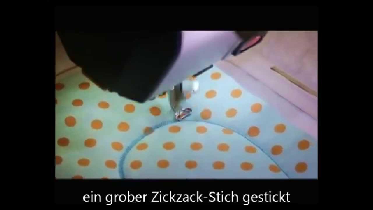 Topfhandschuh Stickdatei Video - YouTube