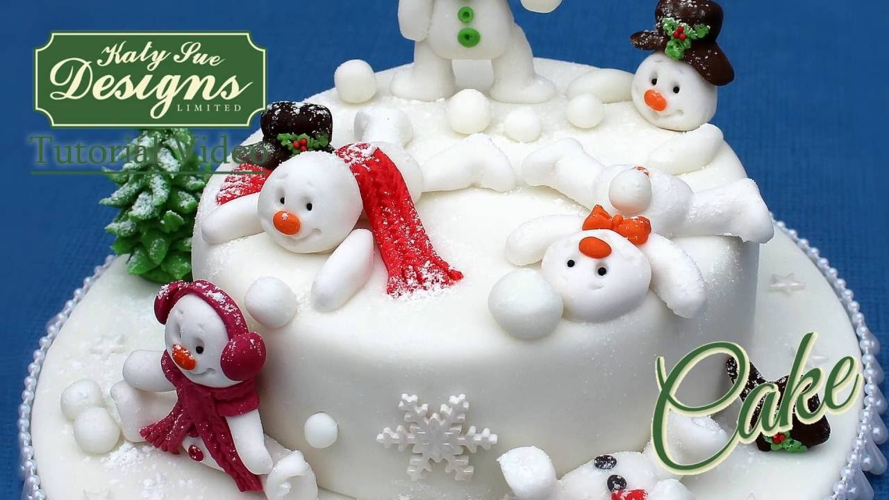 Sug Art Cake Design : Sugar Buttons Snowman Mould for Cake Decorating - YouTube