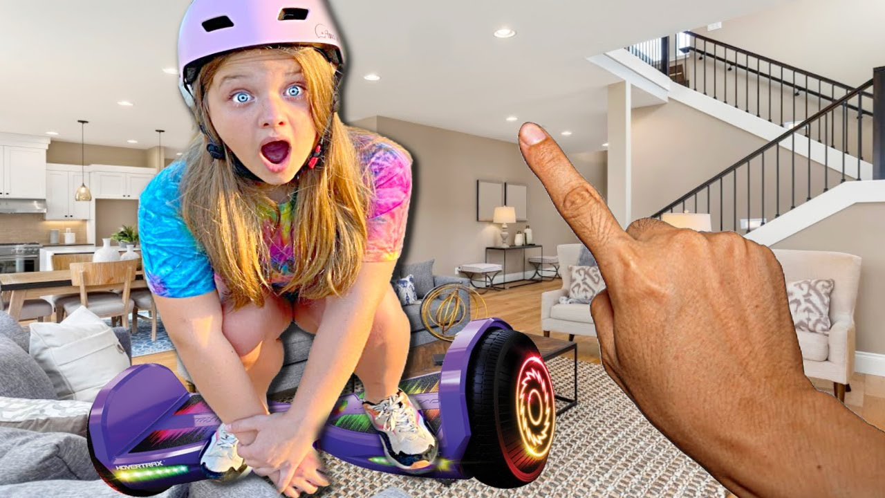 24 Hours on a HOVERBOARD with AUBREY & CALEB!