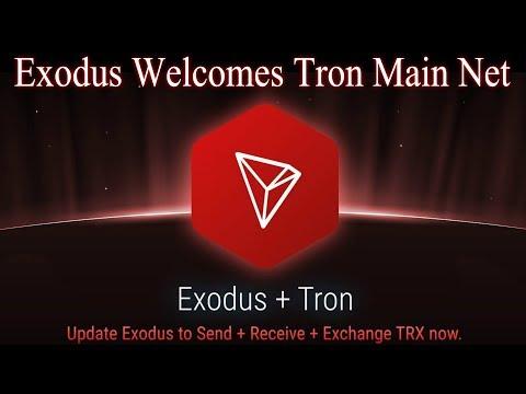 Exodus Wallet Welcomes TRON Main Net