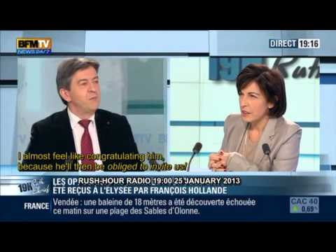 Pt 1 of 2 J-L MELENCHON 25 JAN 2013- BFMTV English subtitles