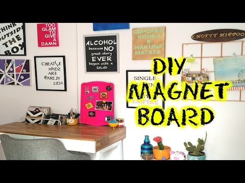 DIY METAL MAGNET BOARD