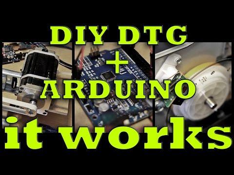 DIY DTG flatbed with Arduino: First printing / Первые испытания
