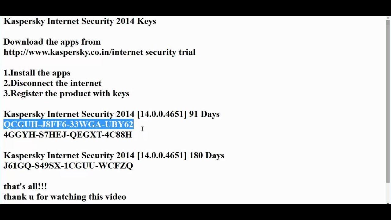 kaspersky internet security 2014 free download 365 days