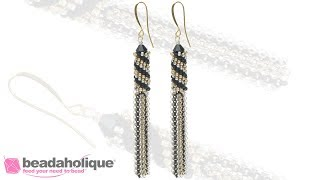 How to Make Tubular Peyote Stitch Tassel Earrings
