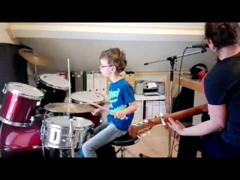Boy (7, Williams Syndrome) Drums Ed Sheeran Song