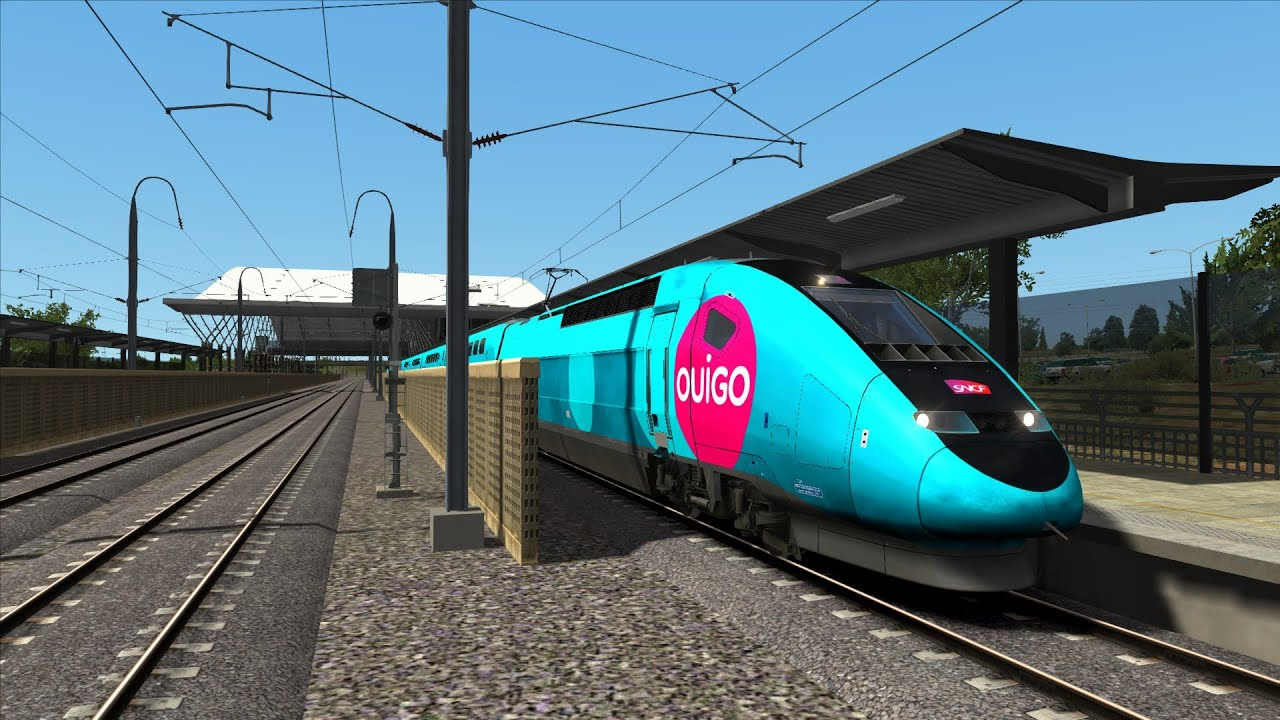 train simulator 2017 tgv ouigo lgv m diterran e marseille avignon sc nario france simu. Black Bedroom Furniture Sets. Home Design Ideas
