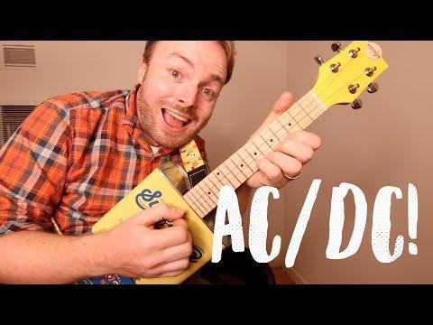 THUNDERSTRUCK - AC/DC (AWESOME ELECTRIC UKULELE TUTORIAL!)