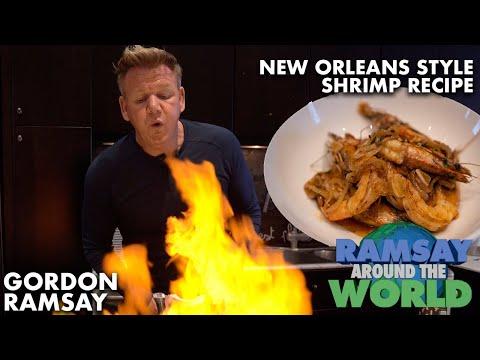 Gordon Ramsay's Easy New Orleans Style BBQ Shrimp Recipe   Ramsay Around The World