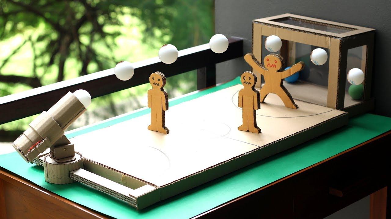 C mo hacer un juego de mesa de f tbol utilizando cart n youtube - Mesas de carton ...