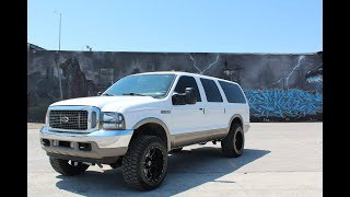2000 Ford Excursion 4x4 7.3 Powerstroke, lifted 20x12s on new 35s FOR SALE, COLD START VIDEO!