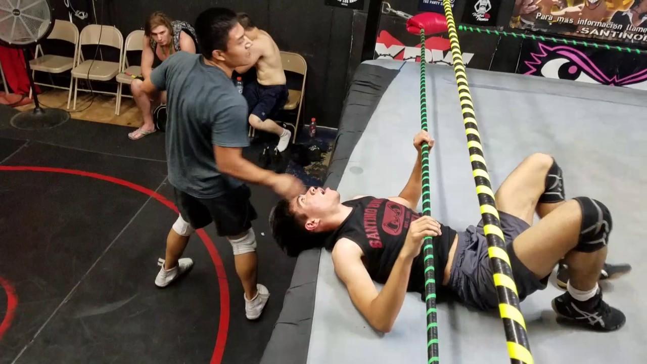 Training Match - Jake Atlas vs Lucas Riley - Pro Wrestling training